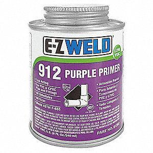 Primer, Purple, 8 oz., for PVC and CPVC Pipe and Fittings