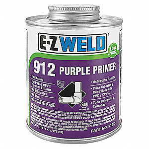 Purple Primer, Size 32, For Use With PVC and CPVC Pipe and Fittings