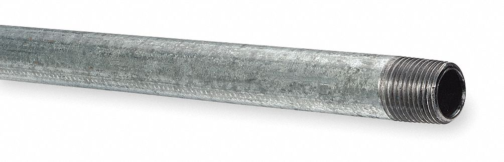 MNPT Threaded Galvanized Steel Pipe Nipple 2 x 3 ft