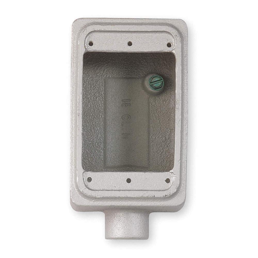 APPLETON ELECTRIC Conduit Outlet Box, Single Gang - 5E788|FS150 ...