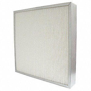 20x20x4, MERV 13, 100% Synthetic Media, Minipleat Air Filter Without Gasket, Single Header, Metal Fr