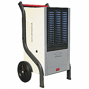 "Industrial Portable Dehumidifier, 115V, 7 Amps, Height 37-7/16"", Width 23-1/8"", Depth 17-15/16"""