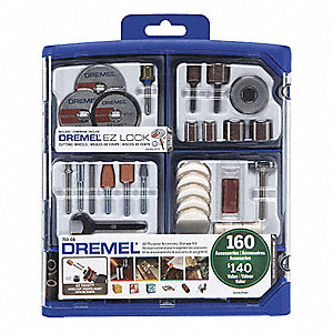 All Purpose Dremel Accessory Set,160 Pc