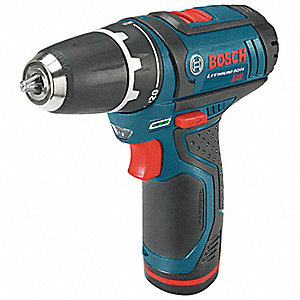 "12V Standard Li-Ion 3/8"" Cordless Drill/Driver Kit, Battery Included"