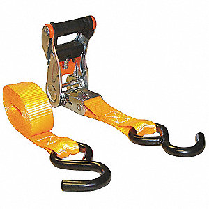 Tie-Down Strap,Ratchet,10ft. x 1In.,PK4