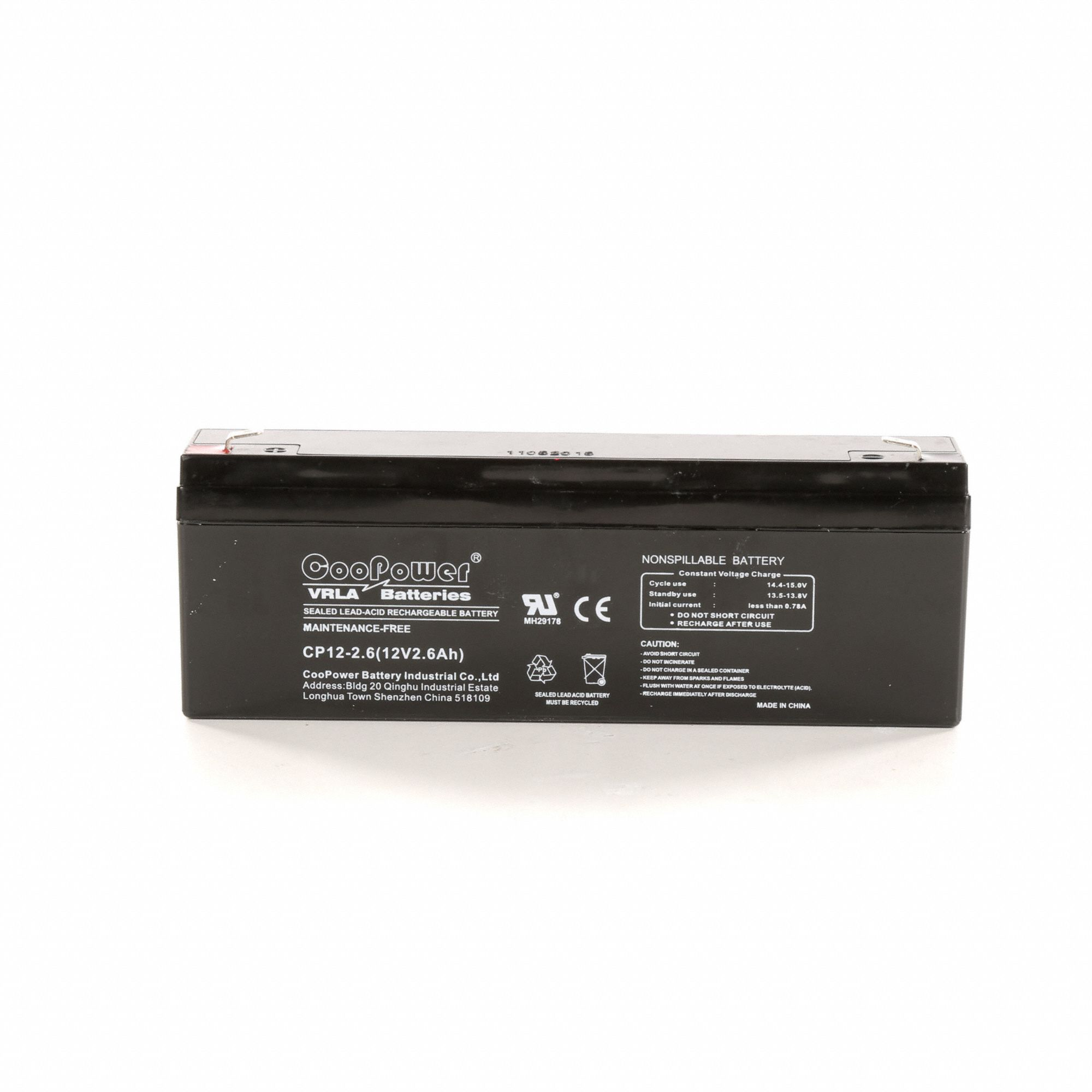 Grainger Approved 12vdc Sealed Lead Acid Battery 26ah 0187 The Circuit Can Be Used To Charge 12v Batteries Faston 5eff9