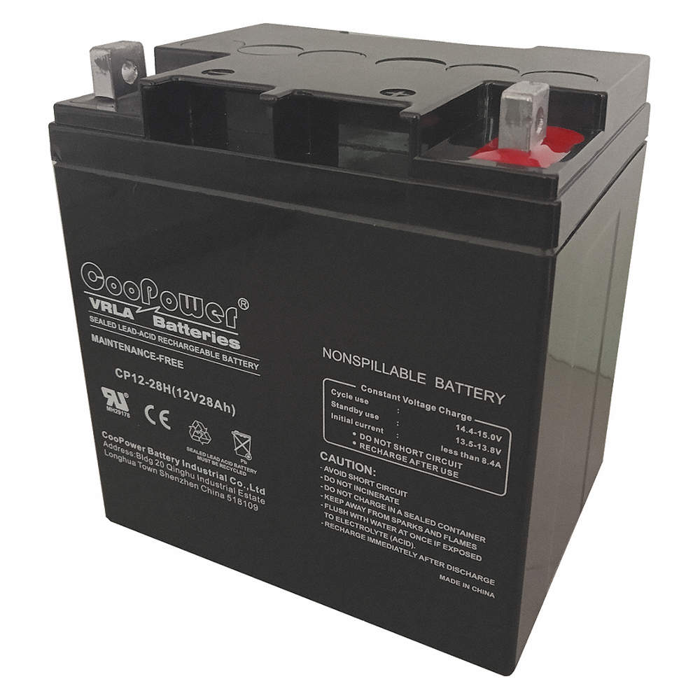Grainger Approved 12vdc Sealed Lead Acid Battery 28ah 0197 Sealedleadacid Charger Circuits Zoom Out Reset Put Photo At Full Then Double Click