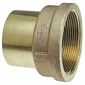 "Low Lead Cast Bronze Adapter, C x FNPT Connection Type, 1"" Tube Size"