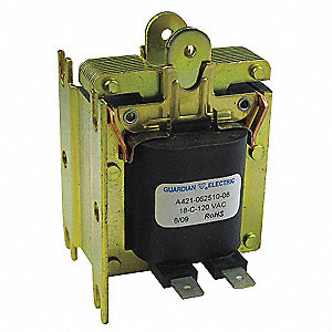 "Solenoid, 120AC Coil Volts, Stroke Range: 1/8"" to 1"", Duty Cycle: Continuous"