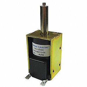 "Solenoid, 12VDC Coil Volts, Stroke Range: 1/8"" to 1"", Duty Cycle: Intermittent"