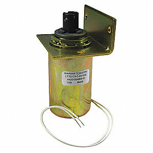 "Solenoid, 12VDC Coil Volts, Stroke Range: 1/8"" to 1"", Duty Cycle: Continuous"