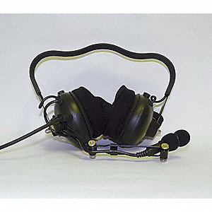 Behind the Head   Over Ear, Two Ear, Black, Noise Canceling No