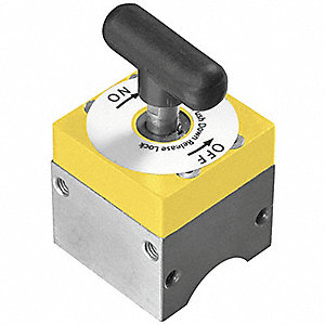 Magnetic Weld Square,1-1/2x2-1/2in,150lb