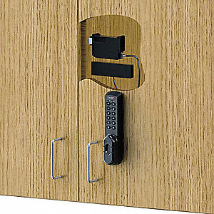 Plastic Electronic Keyless Lock with Keypad and Magnetic Strip Access and Black Finish