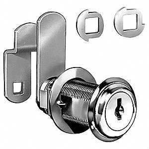 DISC CAM LOCK,NICKEL,MASTER KEYED