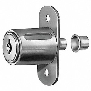 Sliding Door Lock, Nickel,Key C415A