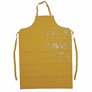 Bib Apron,Yellow,50 In. L