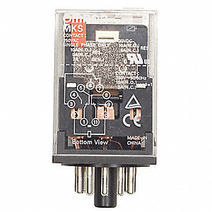 Plug In Relay,8 Pins,Octal,240VAC