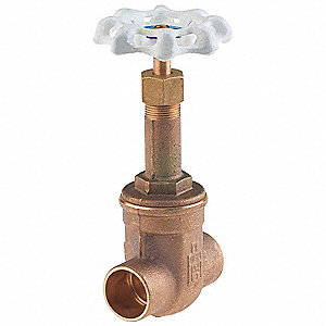 Gate Valve,1-1/4 In.,Solder,Bronze