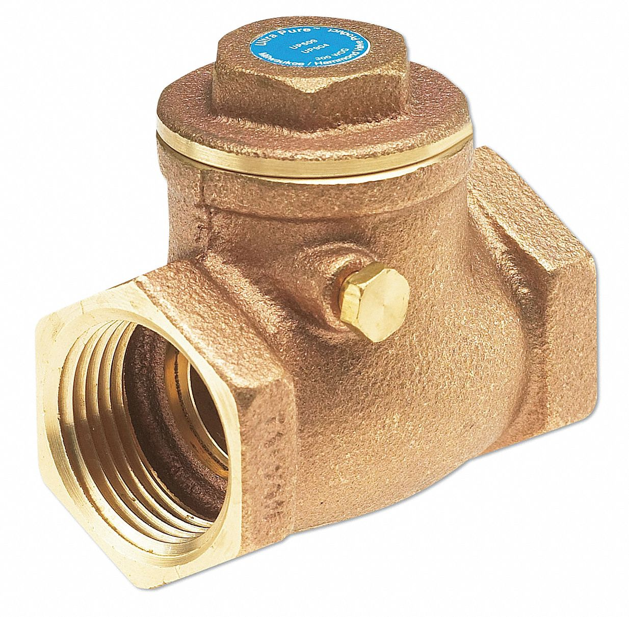 Check Valve,  1/4 in,  Single,  Inline Swing,  Bronze,  FNPT x FNPT
