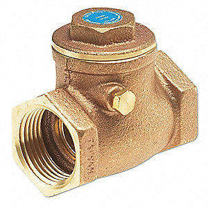"1/4"" Low Lead Swing Check Valve, Bronze, FNPT Connection Type"