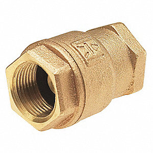 Low Lead Spring Check Valve,Bronze,1/2
