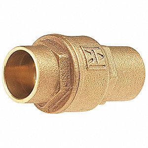 "1/2"" Low Lead Spring Check Valve, Bronze, Solder Connection Type"