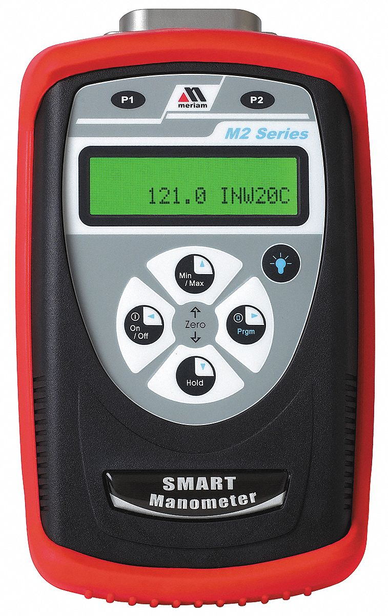 Digital Manometer.0 to200 In WC.+/-0.05