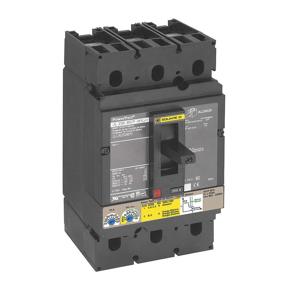SQUARE D Circuit Breaker, 250 Amps, Number of Poles: 3, 600VAC AC ...