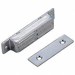 "Magnetic Non-locking Magnetic Catch, 1-17/32""H x 7/16""W, Plain Finish"