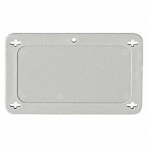 "Blank Tag, Gray, Height: 1-1/2"" x Width: 3"", 1 EA"