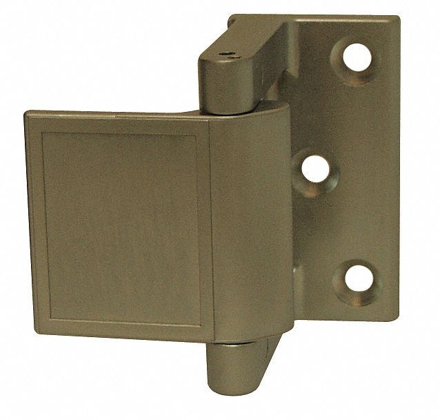 Hotel Security Latch, Satin Chrome/Nickel, Length 1 1/2 in, Width 1 1/2 in