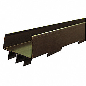 Door Bottom,1-3/4x36 In,Aluminum Channel