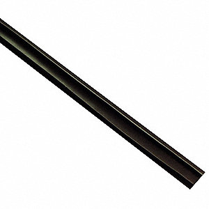 "Silicone, Fire and Smoke Seal, Dark Brown, 8 ft. Overall Length, 1/2"" Overall Width, 3/16"" Overall H"