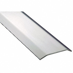 "8 ft. x 5"" x 1/2"" Smooth Top Saddle Threshold, Silver"