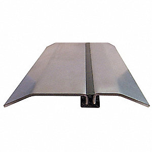 "8 ft. x 5"" x 1/2"" Smooth Top Threshold, Gray"