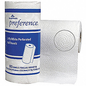78 ft. 2-Ply Paper Towel Roll, White&#x3b; PK30