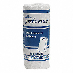 Preference® 78 ft. Perforated Roll, White, 15PK