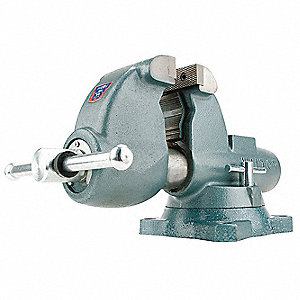 "3-1/2"" Ductile Iron All Weather Combination Vise, 4-1/2"" Throat Depth"