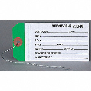 Wire Tag,Paper,Repairable,PK1000
