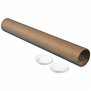 "36"" Round, Spiral Wound Paper Mailing Tube with 6"" Inside Dia., Kraft Brown&#x3b; PK4"