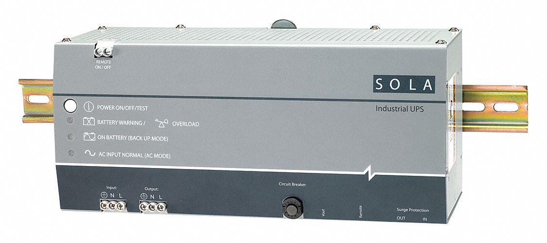 SOLA/HEVI-DUTY UPS System, Number of Outlets: 0, 18min /5min