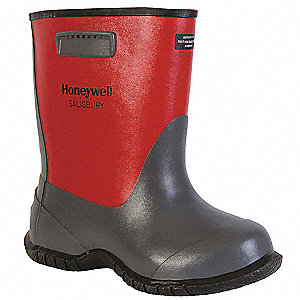 "Red/Black Dielectric Overboots, Size: 11, 14"" Height"
