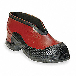 Red/Black Dielectric Overshoes, Size: 9, Ankle Height