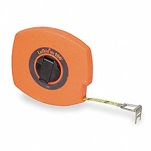Steel 100 ft. SAE/Metric Long Tape Measure