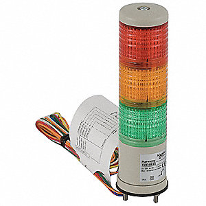 "2-1/2"" Steady Tower Light LED Assembly with 40mm Dia., Red, Orange, Green"