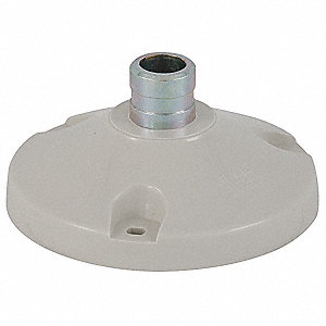 Mounting Base For Use With Pole-Mount Style 40mm Tower Lights, White