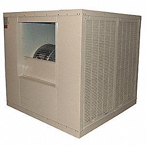 21,000 cfm Belt-Drive Ducted Evaporative Cooler with Motor, 5 HP, Covers 10,000 sq. ft.