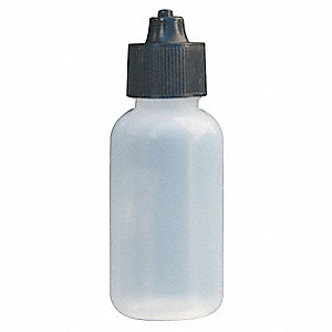 BOTTLE,DISPOSABLE,W/CAP,1 OZ.,PK 5