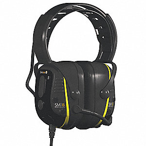 Electronic Ear Muff,23dB,Over-the-H,Grn